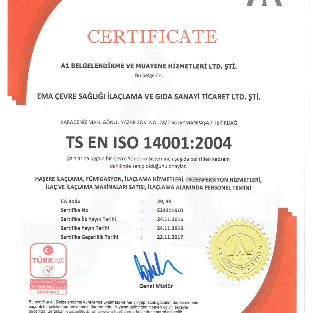 TS EN ISO 14001:2004